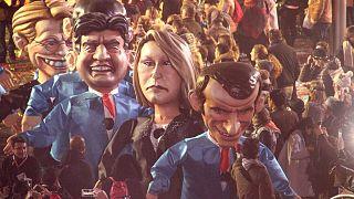 کارناوالهای خیابانی در زمان انتخابات ریاست جمهوری فرانسه در سال ۲۰۱۷