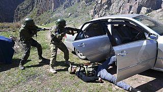 Учения на границе Киргизии и Индии, 26 апреля 2021 г.