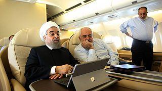 حسن روحانی، جواد ظریف و حسامالدین آشنا