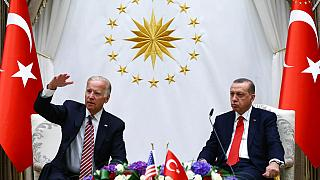 Dönemin ABD Başkan Yardımcısı Joe Biden ve Recep Tayyip Erdoğan 24 Ağustos 2016'da Ankara'da görüştü
