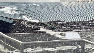 انهيار سقف معبد الأزتك الشهير في المكسيك
