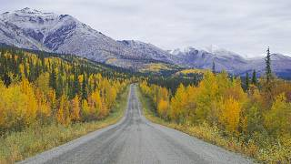 The Dempster Highway is Canada's only public road which crosses the Arctic Circle