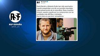 Reporteros sin Fronteras anunció en un tuit la muerte de David Beriáin y Roberto Fraile mientras hacían un reportaje en Burkina Faso.