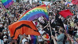 مظاهرة تطالب بحقوق المثليين الجنسيين