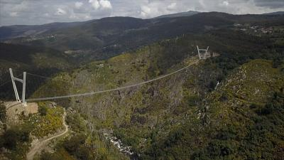 The bridge in Arouca is the longest pedestrian suspended bridge in the world