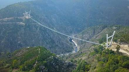 Portugal opens world's longest suspended footbridge