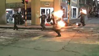 Momento del ataque contra los policías colombianos
