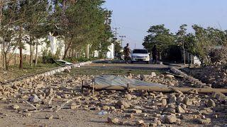 Последствия взрыва в провинции Логар (30 апреля, 2021).