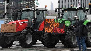 Tractor protest in Strasbourg over new EU agriculture proposals