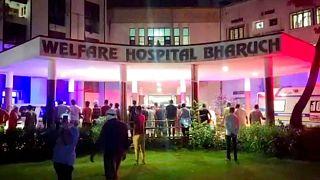 آتشسوزی در بیمارستانی در شهر بهاروچ در غرب هند