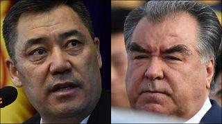 Kırgızistan Cumhurbaşkanı Sadır Caparov ve Tacikistan Cumhurbaşkanı Emomali Rahmon