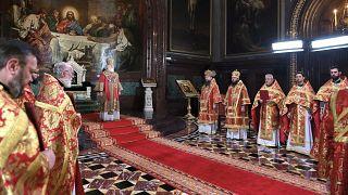 Пасхальная литургия в храме Христа Спасителя (2 мая 2021 г.)