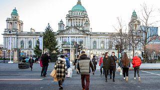 مجلس مدينة بلفاست في وسط مدينة بلفاست عاصمة إيرلندا الشمالية