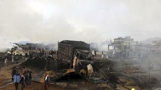 ویدئو؛ انفجار تانکرهای سوخت در شمال کابل ۷ کشته برجای گذاشت