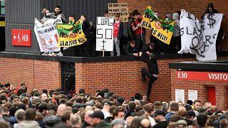 Kundgebung vor Old Trafford