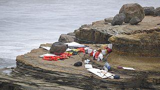 A vízimentők sátrai a mentés helyszínén