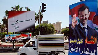 تصویر بشار اسد در سطح شهر