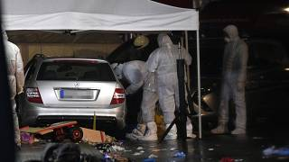 Spurensicherung am Tatort in Volkmarsen im Februar 2020