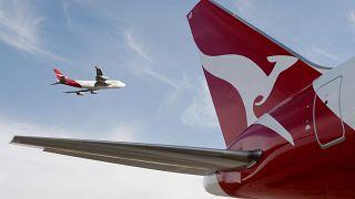 Qantas 767 Flugzeug auf dem Flughafen von Sydney, Australien, 24.07.2007