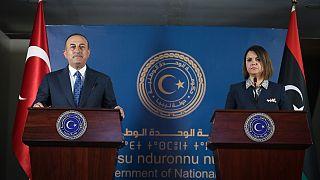 Dışişleri Bakanı Mevlüt Çavuşoğlu ve Libyalı mevkidaşı Necla el-Menguş
