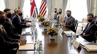 G7 Zirvesi İngiltere Dışişleri Bakanı Raab ve Amerikalı mevkidaşı Blinken'ın görüşmesi ile başlıyor