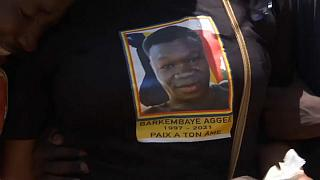 Emotions run high at funeral of Chad protester
