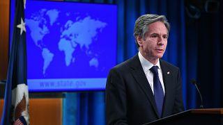 وزير الخارجية الأمريكي في واشنطن. 2021/03/30