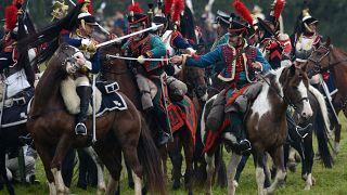 Reconstitution historique de la bataille de Borodino, en Russie octobre 2020