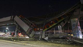 مشاهد فيديو لجسر المترو الذي انهار في مكسيكو وأدى إلى مقتل 23 شخصاً