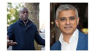 صادق خان (سمت راست) و شان بیلی (سمت چپ)، دو رقیب انتخاباتی برای شهرداری لندن