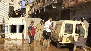 صورة من الارشيف- سيول الأمطار الغزيرة في الجزائر