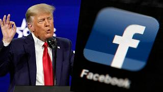 Former President Trump and The Facebook Logo