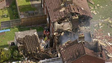 An explosion ravaged a house in Kent
