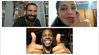 Vinicius Terra, Dino D'Santiago e Sara Correia