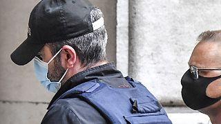 Angeklagter Nordahl Lelandais (links) vor dem Gericht in Chambéry