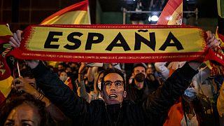A Vox egyik támogatója Madridban