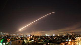 الدفاعات الجوية السورية فوق دمشق (أرشيف)