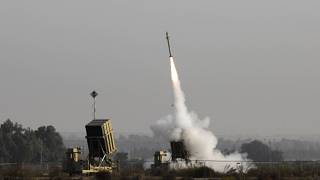 File photo of Israel's Iron Dome air defense system firing a rocket