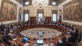 Зал заседаний правительства Италии