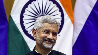 وزير الخارجية الهندي سوبراهمانيام جيشنكار خلال لقاء جمعه بنظيره الروسي سابقاً