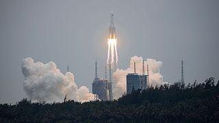سقوط موشک فضایی چین