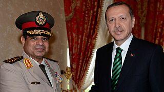 Mısır Cumhurbaşkanı Abdülfettah el-Sisi ve Türkiye Cumhurbaşkanı Recep Tayyip Erdoğan (Arşiv)