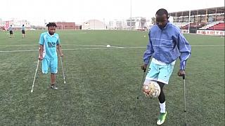 Kenyan amputee football star joins Turkish team