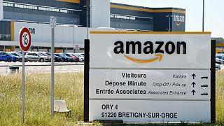 Archives : Locaux d'Amazon en France, à Brétigny-sur-Orge, le 19 mai 2020