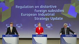 Avrupa Komisyonu yetkilileri güncellenmiş sanayi stratejisini açıkladı