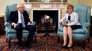 بوریس جانسون، نخستوزیر اسکاتلند و نیکولا استروژن، وزیر اول اسکاتلند