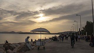 Strandpromenade in Griechenland