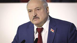 Belarusian President Alexander Lukashenko in Minsk, Belarus, Feb. 12, 2021.