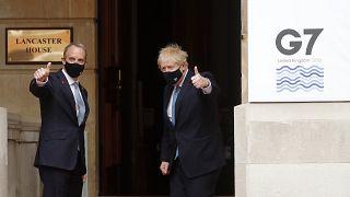 İngiltere Başbakanı Boris Johnson ve Dışişleri Bakanı Dominic Raab