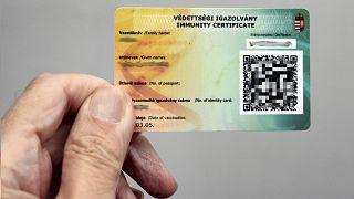 A Magyarországon használt védettségi igazolvány